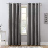Sun Zero Corinne Woven Geometric Blackout Lined Grommet Curtain Panel