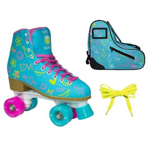 Epic Splash High-Top Indoor/Outdoor Quad Roller Skate Limited Edition Bundle