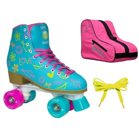 Epic Splash High-Top Indoor / Outdoor Quad Roller Skate 3 Pc. Bundle