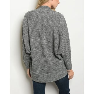 Link to JED Women's Batwing Sleeve Ribbed Open Front Cardigan Similar Items in Women's Sweaters