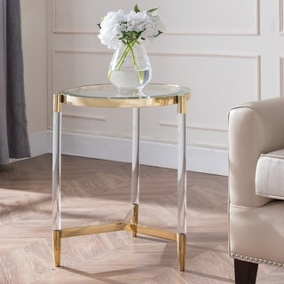 Link to Silver Orchid Henderson Acrylic End Table Similar Items in Living Room Furniture