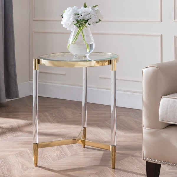 Silver Orchid Henderson Acrylic End Table