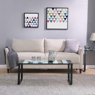 Broet Contemporary Coffee Table w/ Glass Top