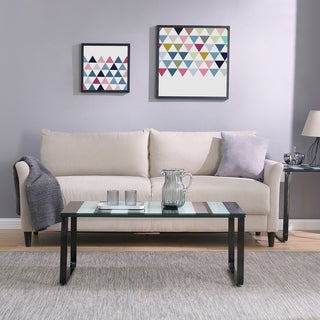 Harper Blvd Broet Contemporary Coffee Table w/ Glass Top