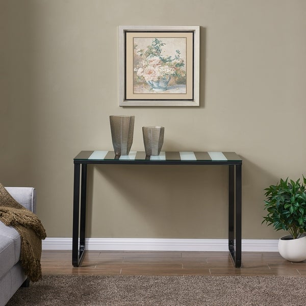 Broet Contemporary Console Table w/ Glass Top