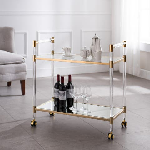 Tanisto Acrylic and Gold Bar Cart