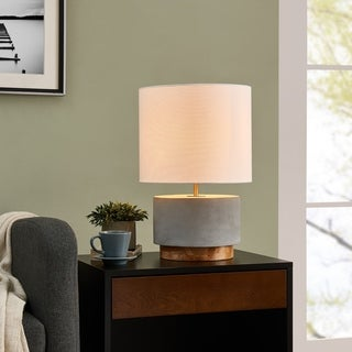 Harper Blvd Carym Concrete and Wood 18-inch Table Lamp