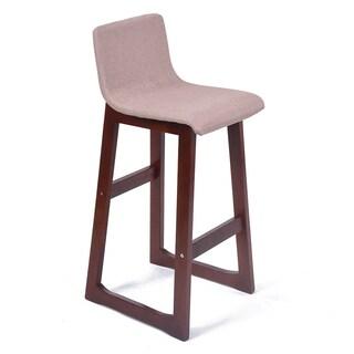 Chelsea Contemporary Wood/Fabric Barstool