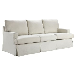Copper Grove Glodzhevo Ivory Linen French Country Sofa