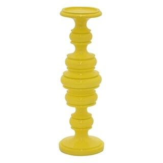 "13.5 "" -Three Hands Candleholder Yellow"