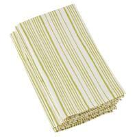 Cotton Napkins With Block Print Stripe Design (Set of 4)