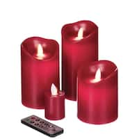 Red Flameless Candles - Set of 4