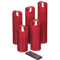 Red Flameless Candles - Set of 5
