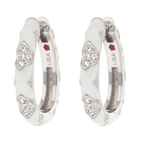 Rhodium Crystal Stackable Fiesta Earring - White