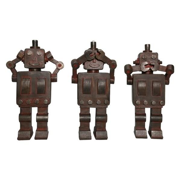 "9.25 "" -Three Hands Set Of Three Robot Tabletops"