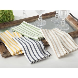 Cheerful Striped Cotton Napkins (Set of 4)