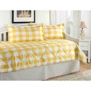 Cottage Plaid Daybed set Black, Blue or Yellow