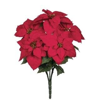 "Poinsettia Bush - 15""l x 15""w x 22""h"