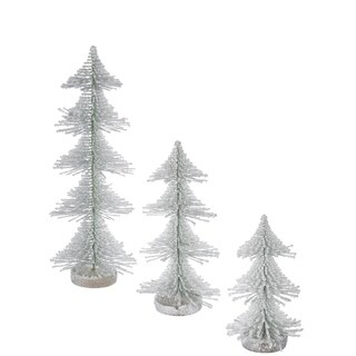 Snowy Sculpted Trees - Set of 3