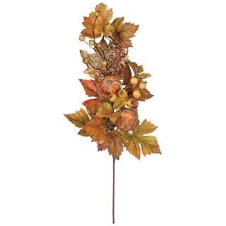 "Autumn Pumpkin & Berry Spray - 8""l x 4.5""w x 25""h"