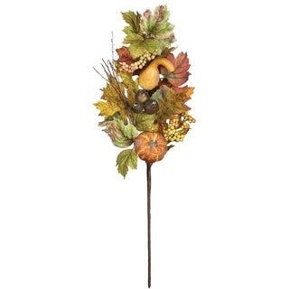 "Autumn Pumpkin, Gourd, & Pod Spray - 9""l x 4.5""w x 27""h"