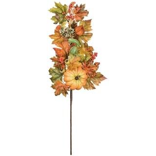 """Autumn Pumpkin, Gourd, & Lantern Spray - 12""""l x 5""""w x 25""""h"""