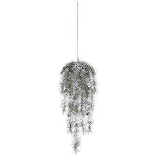 "Weeping Pine with Snow Spray - 11""l x 6.5""w x 25""h"