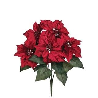 "Poinsettia Bush - 16""l x 16""w x 22""h"
