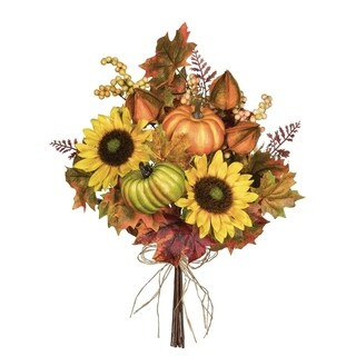 "Sunflower, Pumpkin, & Berries Bouquet - 14""l x 12""w x 18.5""h"
