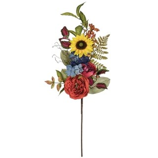 "Summer Mixed Floral Spray - 13""l x 6""w x 30""h"