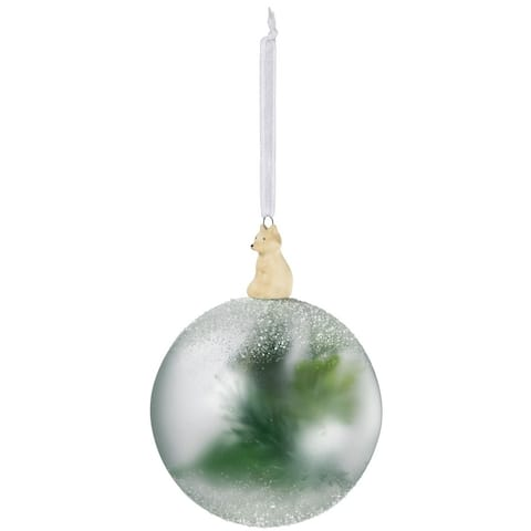 """Frosted Botanical Ball Ornament - 4""""l x 4""""w x 5.5""""h"""