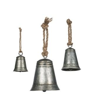 Metal Bells with Rope Handles - Set of 3