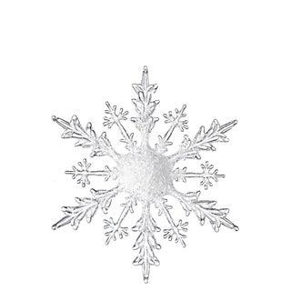"""Iced Snowflake Ornament - 11.75""""l x 1.5""""w x 11.75""""h"""