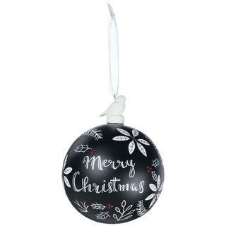 buy black christmas ornaments online at overstockcom our best christmas decorations deals - Black And White Christmas Ornaments