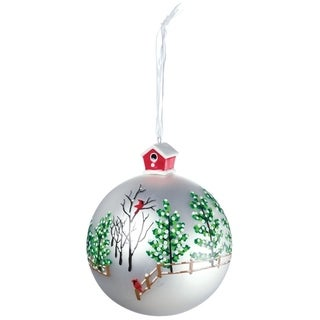 "Forest Scene Ball Ornament - 4""l x 4""w x 4.5""h"