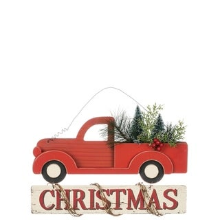 "Christmas Truck Wall Ornament - 15""l x 2""w x 9""h"