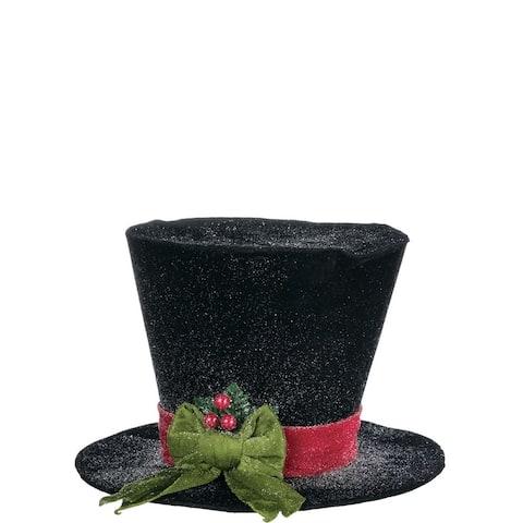 "Snowman Velvet Hat Figurine - 12""l x 12""w x 8""h"