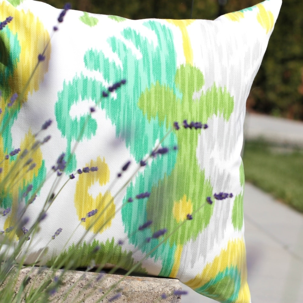Ikat Journey Outdoor Throw Pillow