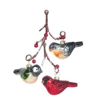 "Birds On Twig Ornament - 4""l x 4""w x 6.5""h"
