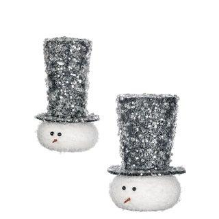 """Snowman Ornament - 3.5""""l x 3.75""""w x 6""""h, 4.5""""l x 4.75""""w x 6""""h"""