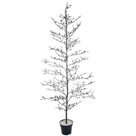 """Snowy Twig Potted Tree - 32""""l x 32""""w x 6'h"""