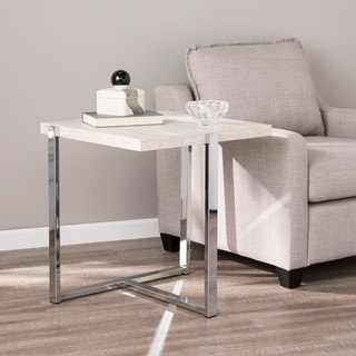 Vadner Faux Stone End Table
