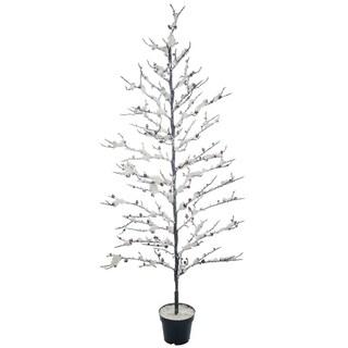 """Snowy Twig Potted Tree - 32""""l x 32""""w x 69""""h"""