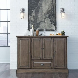 Tyler Grey Wood Wine Cabinet
