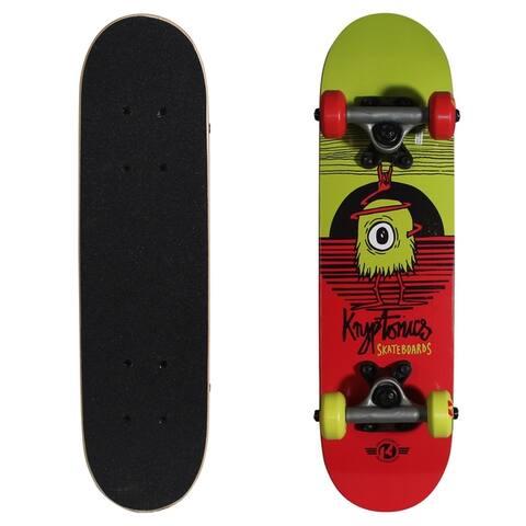 """Kryptonics Locker Board Complete Skateboard (22"""" x 5.75"""") - 31"""