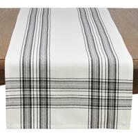 Cotton Plaid Design Table Runner