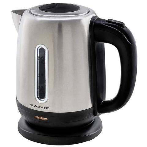 Ovente KS22S Stainless Steel Cordless Electirc Tea Kettle 1.2L