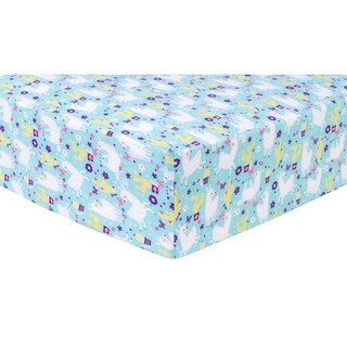 Llama Paradise Deluxe Flannel Fitted Crib Sheet
