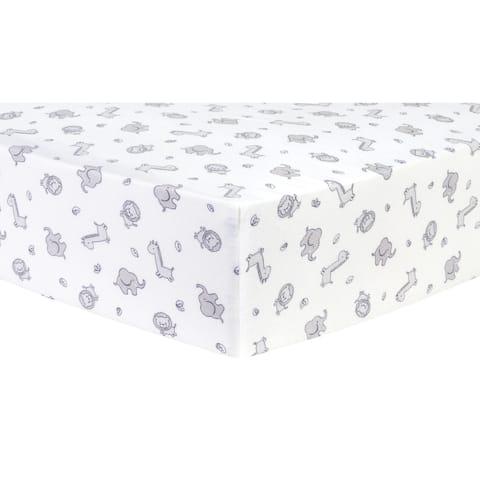 Safari Chevron Deluxe Flannel Fitted Crib Sheet
