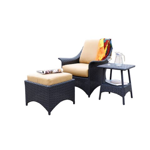 Huntington 3 Piece Relaxing Deep Seat Set with Cushion